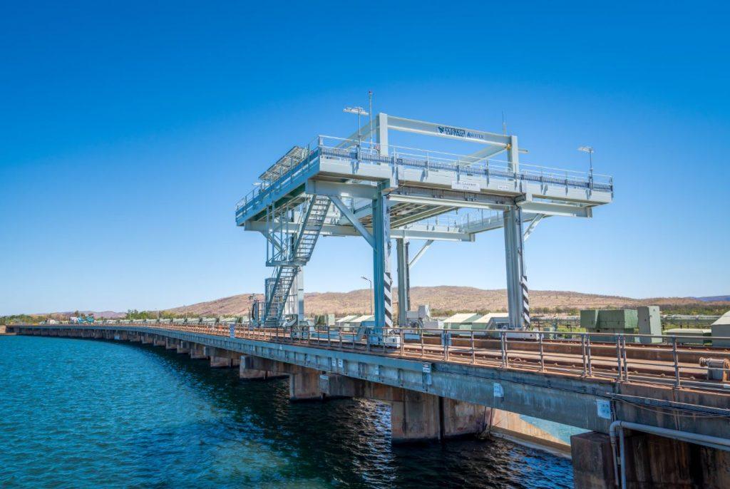 Kununurra Diversion Dam Wall Vector Lifting Gantry Crane